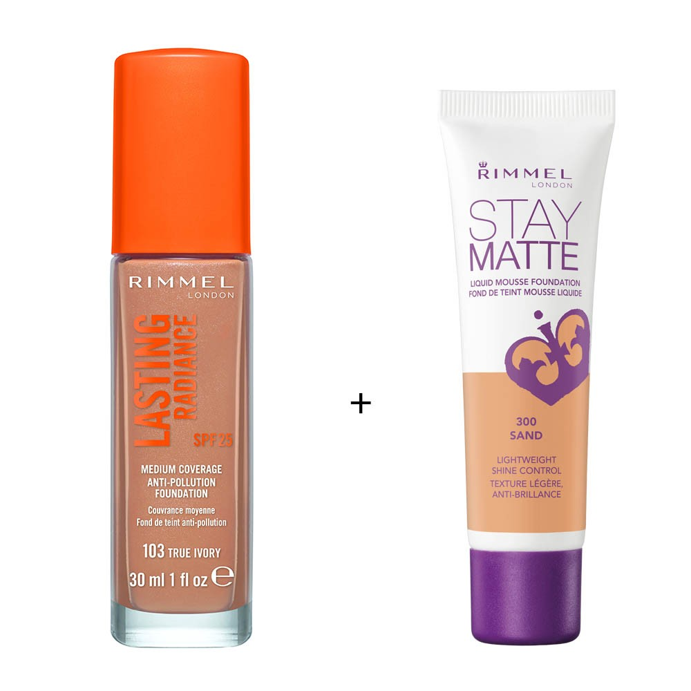 Lasting Radiance Foundation 103+Stay Мatte Foundation 300